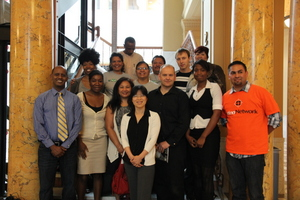 group photo at City Hall DCL reps