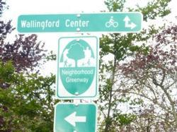 Neighborhood Greenway sign in Seattle