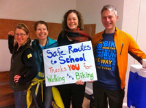Teachers and Safe Routes staff at Roseway Heights School