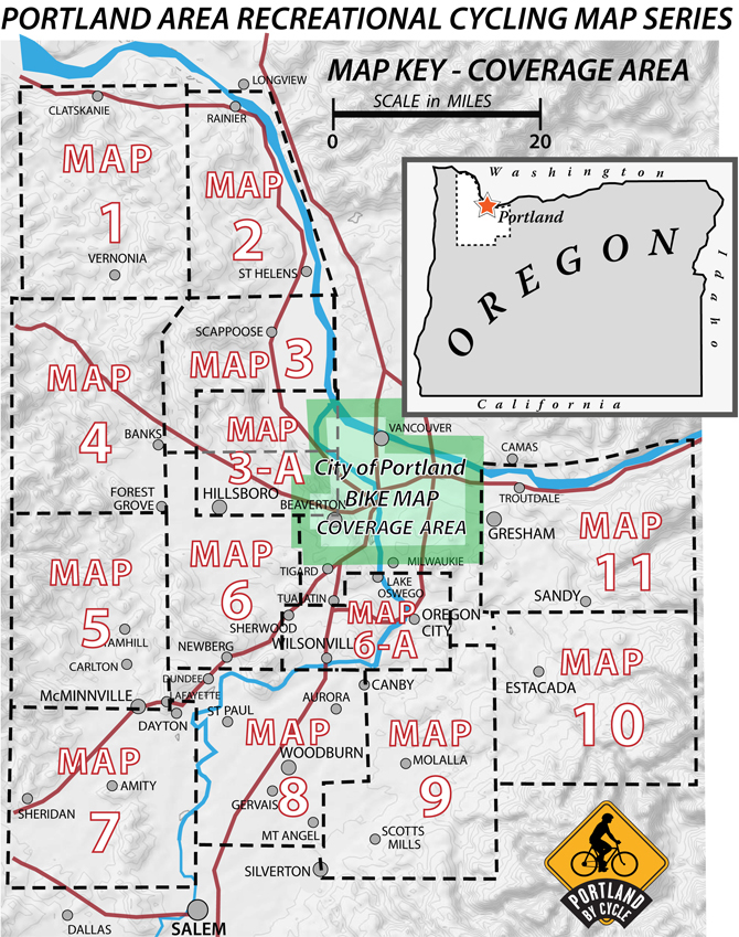 Portland Area Recreational Cycling Maps | Recreational Bicycling ...