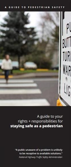 cover of Pedestrian Safety Guide