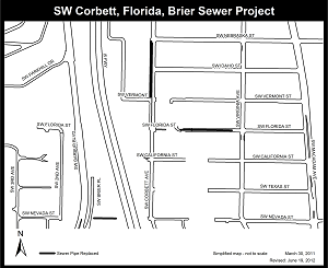SW Florida, Corbett, Brier project map