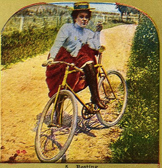 Turn of the century woman with bike