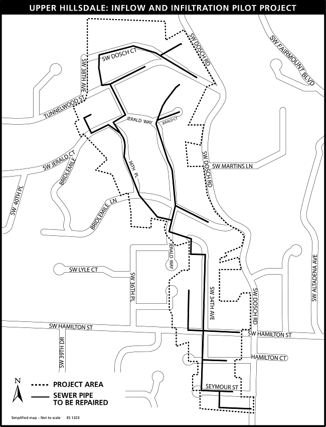 map of Upper Hillsdale pilot project