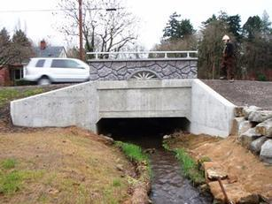 photo of new fish-friendly SE 28th Avenue culvert