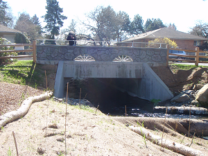 photo of new SE 21st and Umatilla culvert