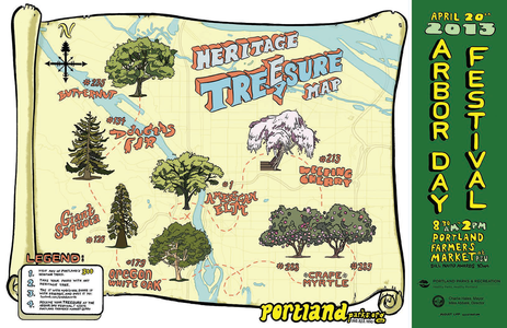 Arbor Month Tree sure Hunt Map