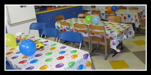 Photo of Lunch room in use for a birthday party