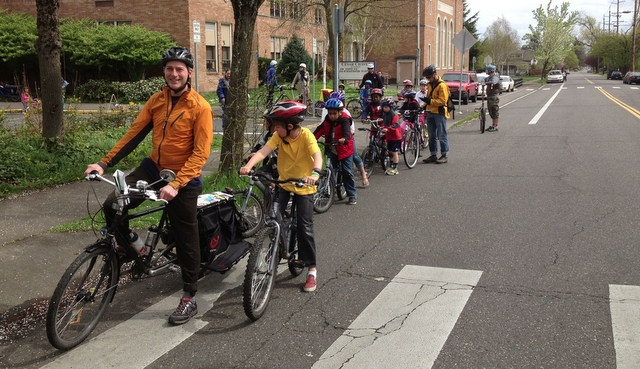 community ride at the Spring Kick-Off