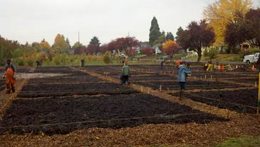 Volunteers at new Mt. Tabor Community Garden