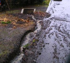 photo of street drainage problems