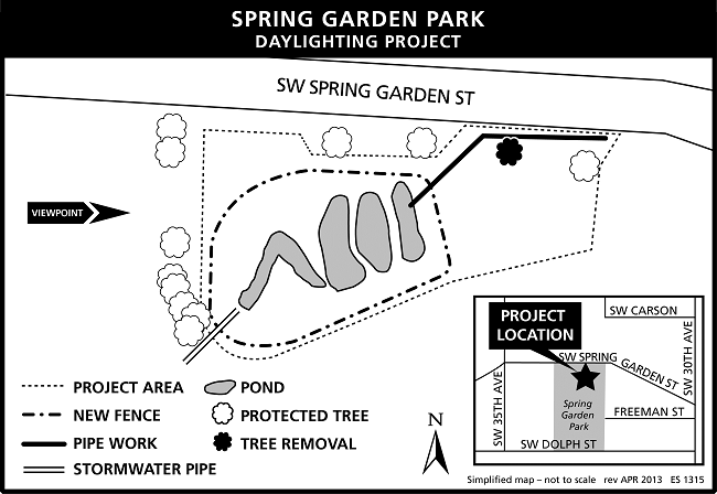 map of Spring Garden Park project