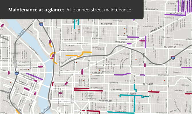 Maintenance at a glance:  All planned street maintenance