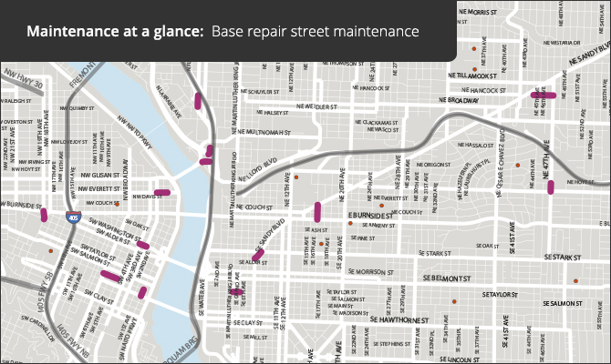 Maintenance at a glance: Base repair planned street maintenance