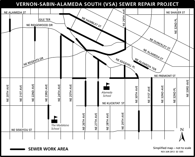 VSA South project map