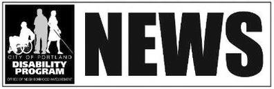 Logo for the Portland Disability NEWS