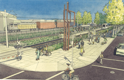 clinton st station rendering