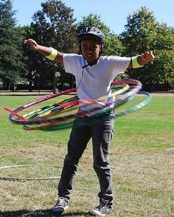 Boy Hula Hooping
