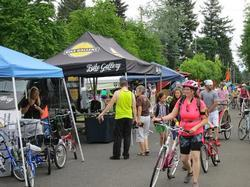 Bike Gallery and Busy Marketplace