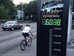 Hawthorne Bridge bike counter