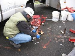 Sampling soil gas as part of a Phase II Environmental Site Assessment