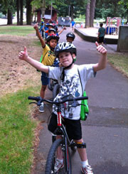 Kids at Bike Camp