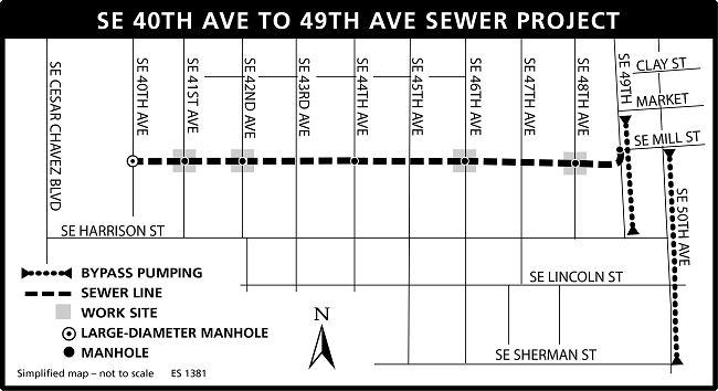 SE 40th to 49th project map