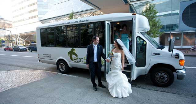 ecoShuttle wedding transportation