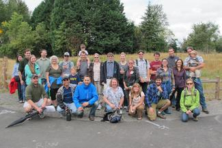Floodplain restoration tour group