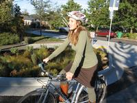 Riding a neighborhood greenway