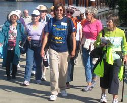 Donna Green leading a Senior Strolls walk