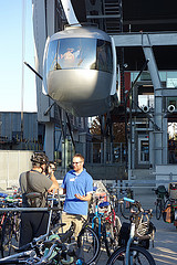Portland Aerial Tram and Go By Bike valet parking