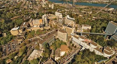 Aerial photo of OHSU on Marquam Hill