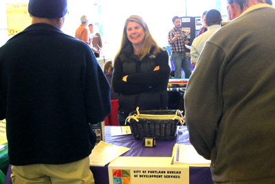 BDS Outreach Coordinator, Colleen Poole at a Fix-It-Fair