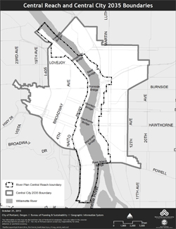 Central City map boundaries