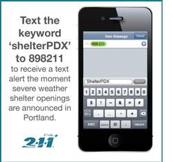 Text Alerts for Severe Weather Shelter | Blog | The City of Portland