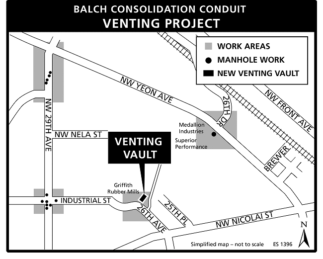 Balch Venting Project map