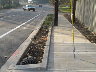 sidewalk and stormwater facility
