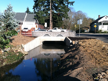 new Tacome Street culvert