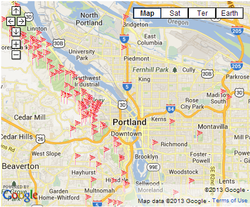 Click here to view a map of No Ivy League work sites in the Portland Area