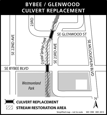 Bybee-Glenwood Culvert Replacement project map
