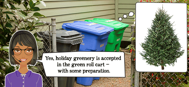 disposing of holiday tree and greenery