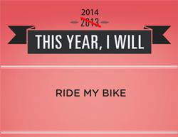 2014 resolution: I will ride my bike