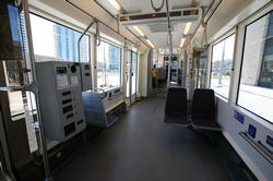 Interior Streetcar showing disabled spot