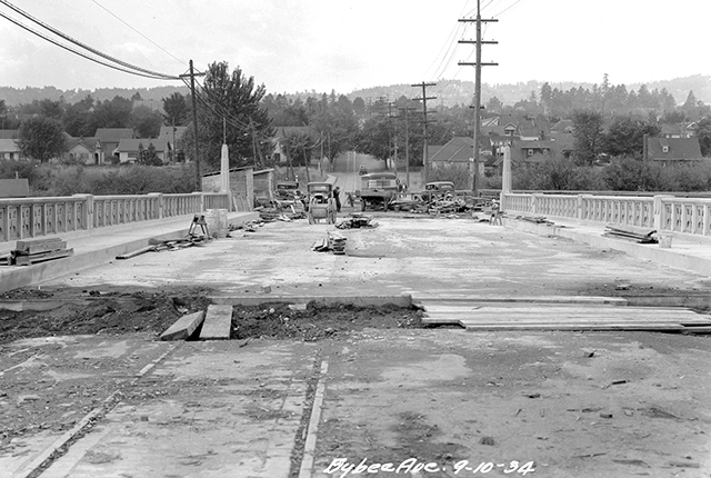 Sept 10, 1934 - SE Bybee Blvd Bridge Construction