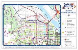 Old format of Safe Routes map