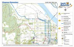 New format of Safe Routes map