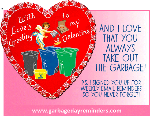 Garbage Day Valentine Greeting