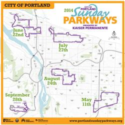 Sunday Parkways Route Map