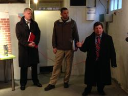 Congressman Earl Blumenauer, Ryan Clemmer from Clean Energy Works and Commissioner Steve Novick